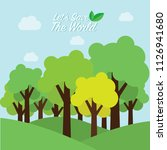 eco friendly. ecology concept... | Shutterstock .eps vector #1126941680