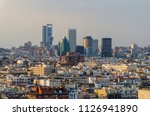 madrid. view of downtown and... | Shutterstock . vector #1126941890