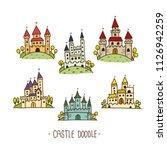 castle doodle  hand drawn...   Shutterstock .eps vector #1126942259