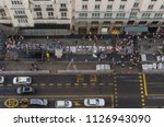 illegal sellers in gran via of... | Shutterstock . vector #1126943090