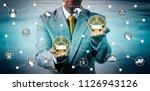 unrecognizable male enterprise... | Shutterstock . vector #1126943126