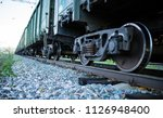 the railway engine of a freight ... | Shutterstock . vector #1126948400