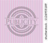 publicity badge with pink... | Shutterstock .eps vector #1126955189