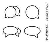 chat icon. speech bubbles icon. ... | Shutterstock .eps vector #1126964423
