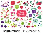 set of fruits   watermelon ... | Shutterstock .eps vector #1126966316