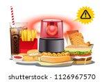 warning nutrient of fast food....   Shutterstock .eps vector #1126967570