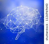 human brain   triangles  lines  ... | Shutterstock .eps vector #1126969640
