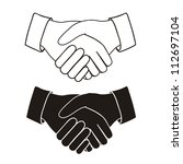 illustration of handshake... | Shutterstock .eps vector #112697104