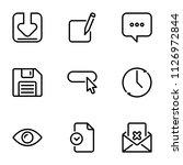 set of black vector icons ... | Shutterstock .eps vector #1126972844