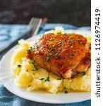 roasted chicken breast roll... | Shutterstock . vector #1126974419