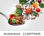 healthy food eating that is... | Shutterstock . vector #1126974440
