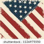 grunge flag of usa.vector... | Shutterstock .eps vector #1126975550