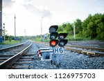 movement of the train passing... | Shutterstock . vector #1126975703