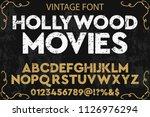 hand drawn typeface set brush... | Shutterstock .eps vector #1126976294