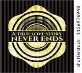 a true love story never ends... | Shutterstock .eps vector #1126976948