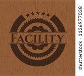 facility retro style wood emblem   Shutterstock .eps vector #1126977038
