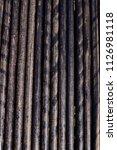 oil drill pipe. rusty drill... | Shutterstock . vector #1126981118