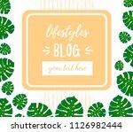 blog inscription. design... | Shutterstock .eps vector #1126982444
