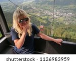 blond woman with fear of... | Shutterstock . vector #1126983959