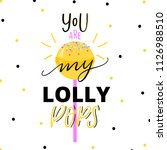 lolly pops illustration with... | Shutterstock .eps vector #1126988510