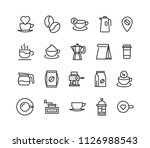 simple set of coffee related... | Shutterstock .eps vector #1126988543
