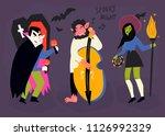 spooky night. halloween music... | Shutterstock .eps vector #1126992329