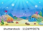 cartoon underwater vector... | Shutterstock .eps vector #1126993076