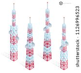 vector tv antenna  realistic... | Shutterstock .eps vector #1126996523