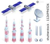 vector tv antenna  realistic... | Shutterstock .eps vector #1126996526