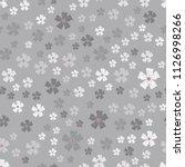 simple pastel color floral... | Shutterstock . vector #1126998266