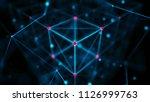 technology block chain concept. ... | Shutterstock . vector #1126999763