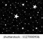 hand drawn backdrop with stars... | Shutterstock .eps vector #1127000936