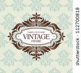 abstract vintage frame vector... | Shutterstock .eps vector #112700818