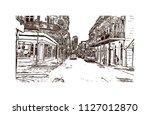 the french quarter  historic... | Shutterstock .eps vector #1127012870