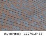 roof tiling texture. soft roof  ... | Shutterstock . vector #1127015483