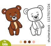 coloring book for children  bear | Shutterstock .eps vector #1127017226