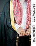 saudi arabian man wears luxury... | Shutterstock . vector #1127021063