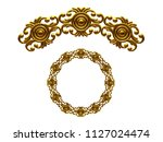 golden ornamental segment  ... | Shutterstock . vector #1127024474