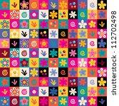 sweet flowers pattern - stock vector