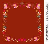 butterflies flowers nature... | Shutterstock .eps vector #1127026688