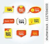 quick tips  helpful tricks... | Shutterstock .eps vector #1127036033