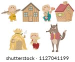 the three little pigs. fairy... | Shutterstock .eps vector #1127041199