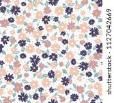 cute floral seamless pattern in ... | Shutterstock .eps vector #1127042669