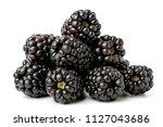 a bunch of ripe blackberries on ... | Shutterstock . vector #1127043686