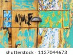 decorative and colorful wood... | Shutterstock . vector #1127044673
