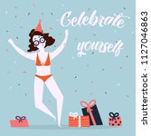 celebrate yoursel and be good... | Shutterstock .eps vector #1127046863