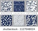 vector set seamless pattern... | Shutterstock .eps vector #1127048024