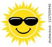summer sun smile with... | Shutterstock .eps vector #1127050940