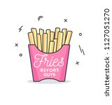 fries before guys feminine... | Shutterstock .eps vector #1127051270