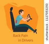 back pain in driwers. wrong... | Shutterstock .eps vector #1127053250